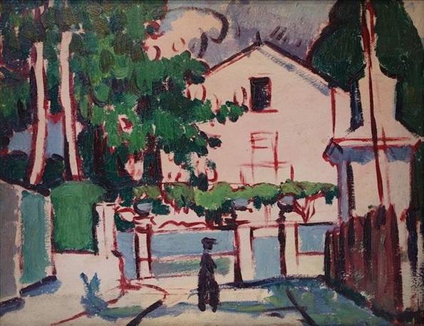 Anne Estelle Rice - Pink House