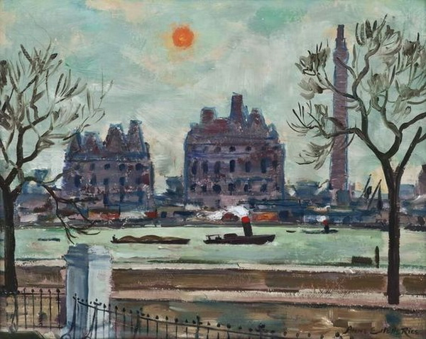 Anne Estelle Rice - High Tide at Millbank