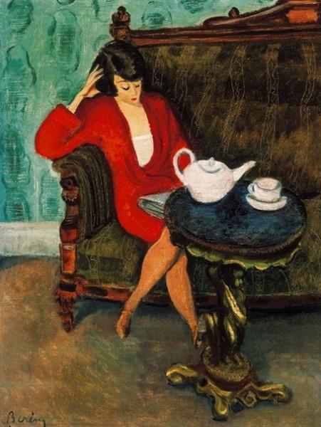 Robert Bereny - Woman in Red Green Room