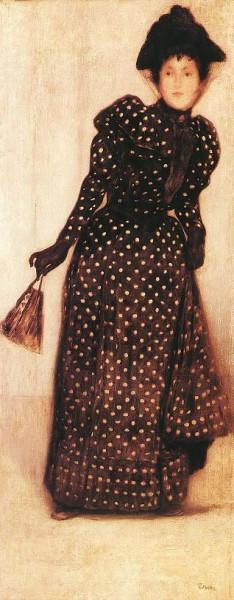 de Jozsef Rippl Ronai - 'Woman Dressed in Polka Dot Dress