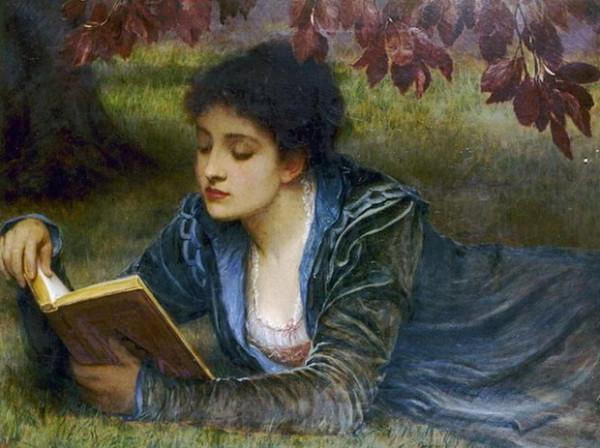 James Wells Champney - Girl reading