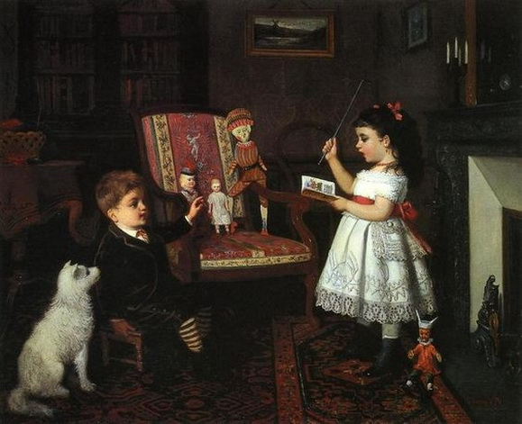 James Wells Champney - The Lesson