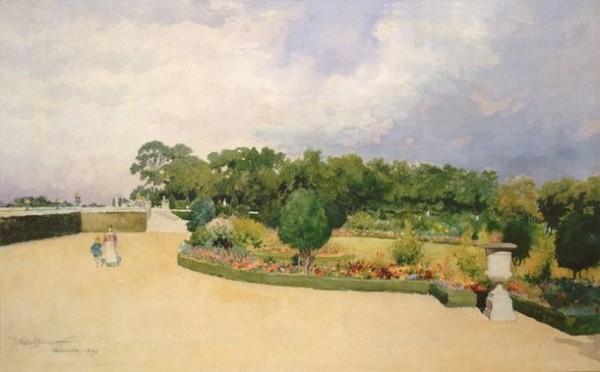 James Wells Champney - Versailles in Spring