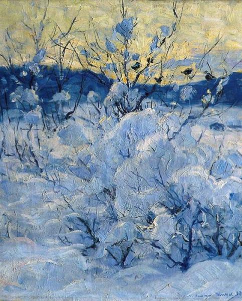 Gustav Wentzel - Winter Evening.