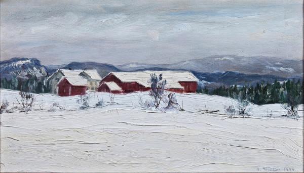Gustav Wentzel - Farm in Asker, winter