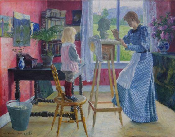 Gustav Wentzel - Fra Atelieret