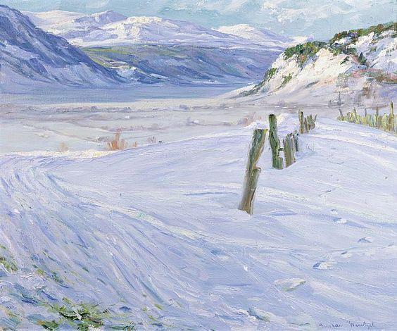 Gustav Wentzel - Winter Landscape