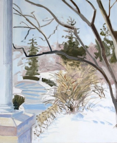 Lois Dodd - view from Porch