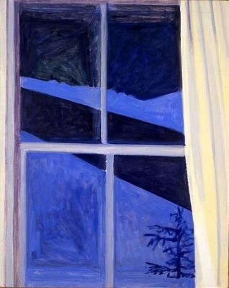 Lois Dodd - Blue Night Window