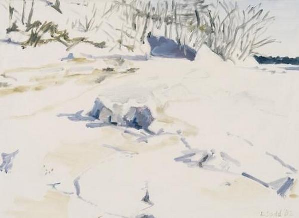 Lois Dodd - Snow in Cove