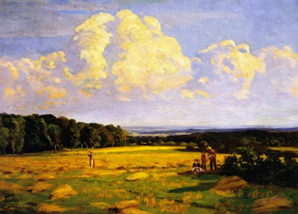 William Brymner - Harvesting, Sainte-Famille