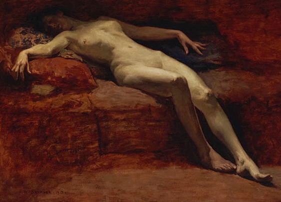 William Brymner - Una Figura Desnuda
