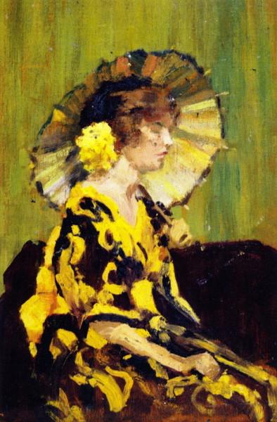 William Brymner -  Lady Holding a Parasol