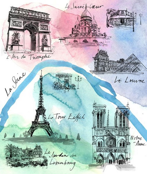 Sarah Maycock - Paris Map