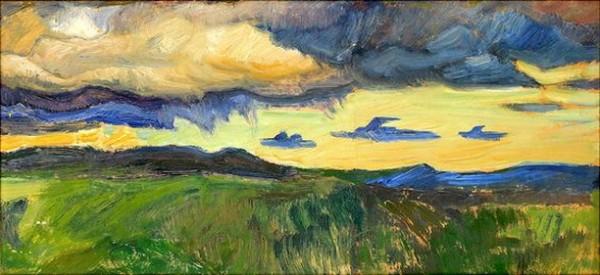 Helmer Osslund - Landscape with Mountains