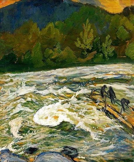 Helmer Osslund - Torrential river
