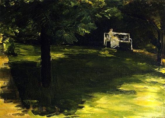 Max Liebermann - Bench beneath the Chestnut Tree