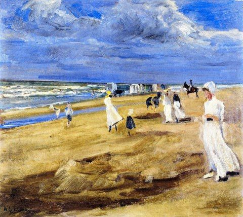 Max Liebermann - The Beach at Noordwijk