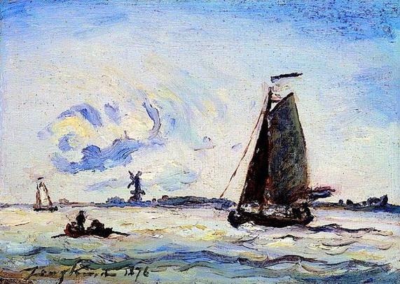 Johan Barthold Jongkind -  Voilier sur la Meuse