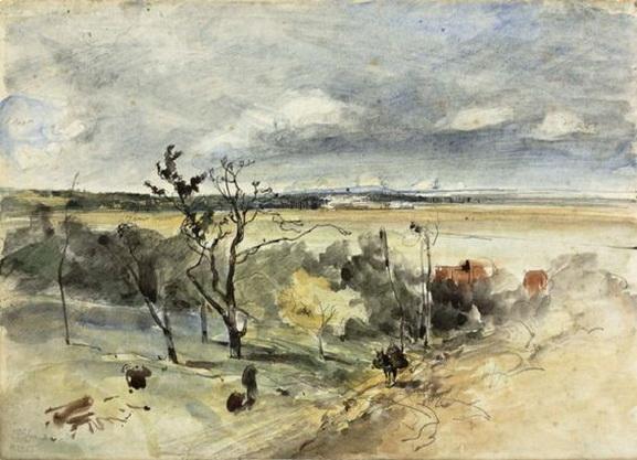 Johan Barthold Jongkind - Paysage avec homme