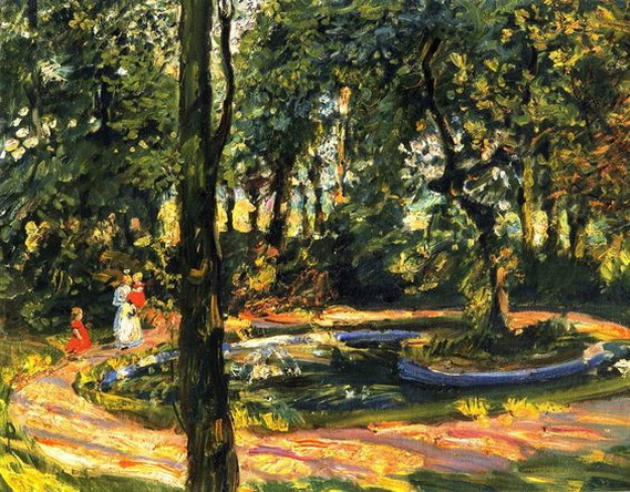 Max Slevogt - Kinder am Teich, der Garten