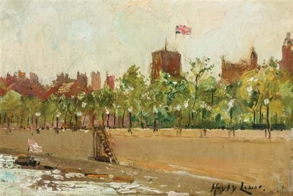 Richard Hayley Lever - Bank of the Thames Rive