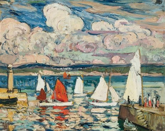 Richard Hayley Lever - Sailboats, St. Ives