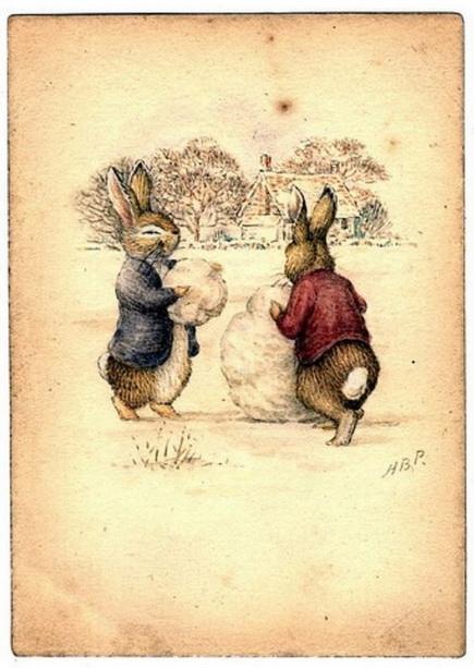 старинные новогодние открытки 4