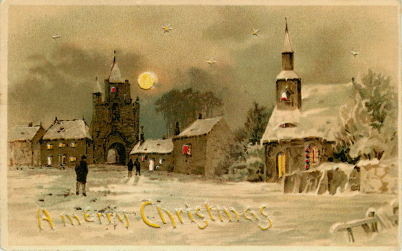 старинные новогодние открытки 5