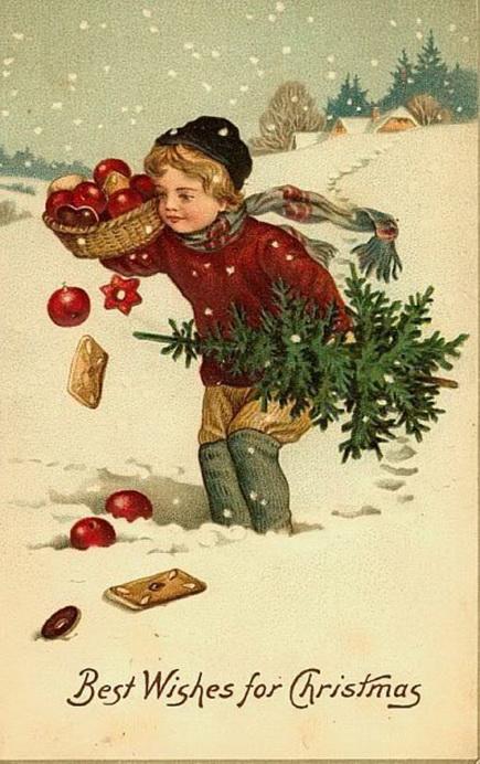 старинные новогодние открытки 11