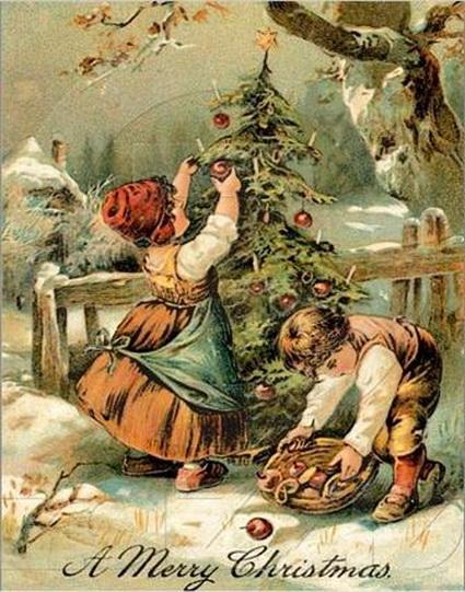 старинные новогодние открытки 13