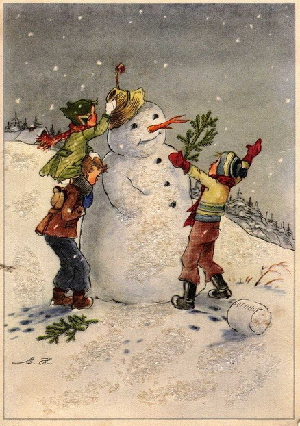 старинные новогодние открытки 2
