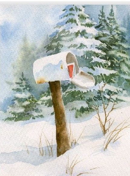 Christmas Greeting Card by Susie Short