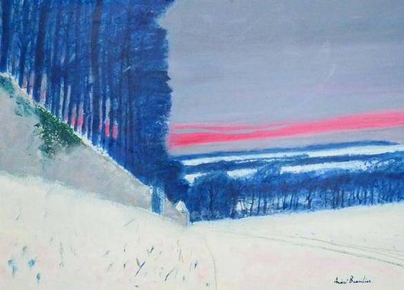 Andre Brasilier - Soir de neige