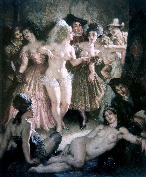 Norman Lindsay - Court Napping