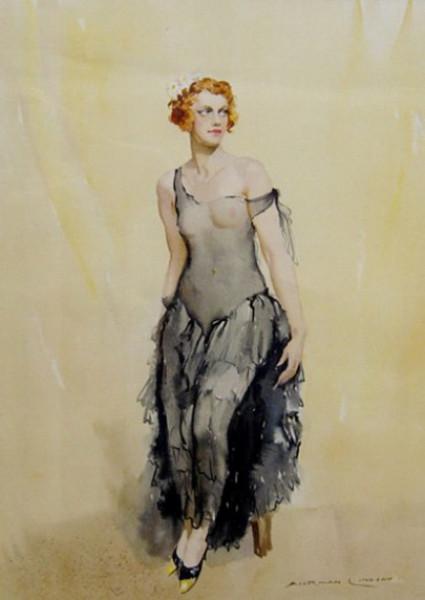 Norman Lindsay - Doreen (The Grey Dress) 1932