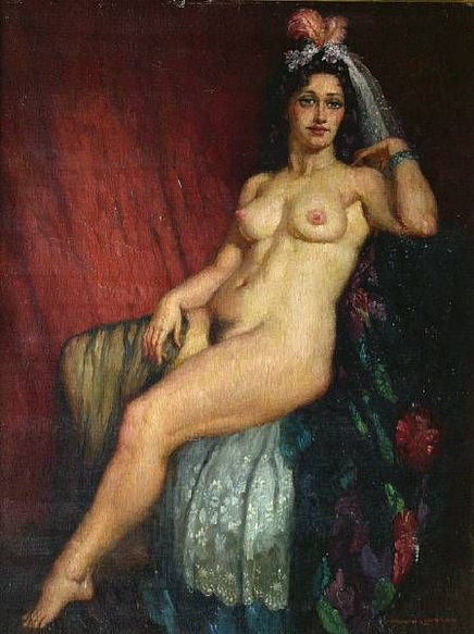 Norman Lindsay - The Dancer with Feather Headdress