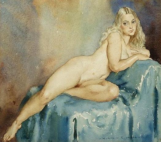 Norman Lindsay - Reclining Nude