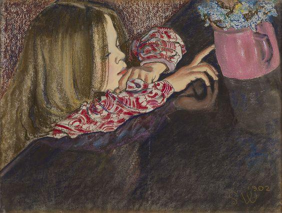 Stanislaw Wyspianski - Dziewczynka z wazonem