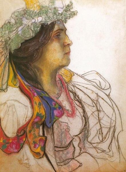 Stanislaw Wyspianski - Portrait of the Actress