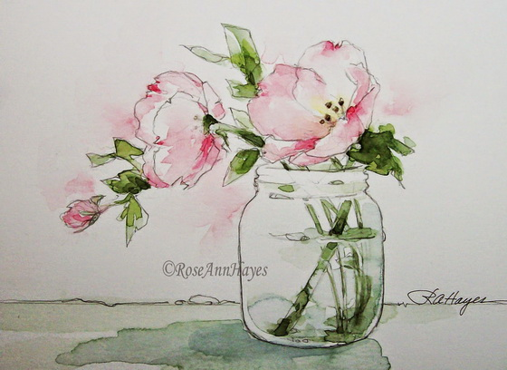 Roseann Hayes -  Pink Evening Primrose