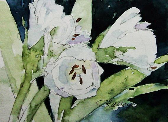Roseann Hayes -  White Lilies