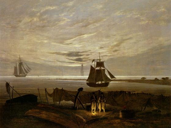 Caspar David Friedrich - Abend an der Ostsee