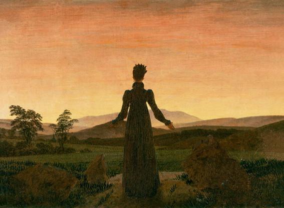Caspar David Friedrich - Frau in der Morgensonne