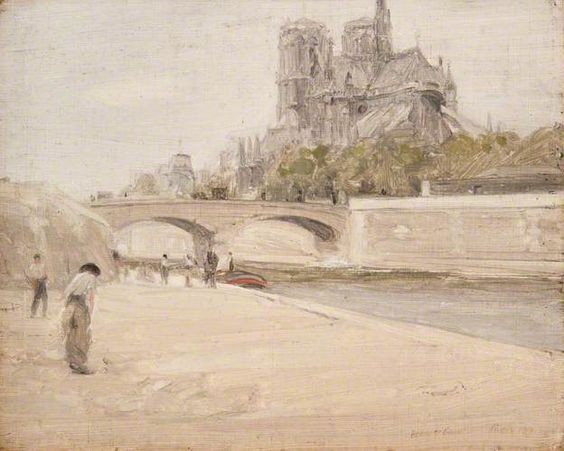 Herbert James Gunn - Notre Dame from the Banks of the Seine