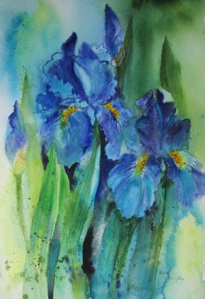 Rachel McNaughton - Splashy Irises