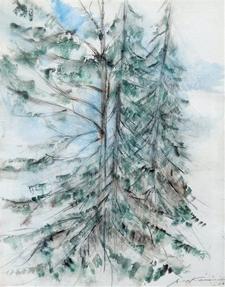Aimo Kanerva - Fir trees