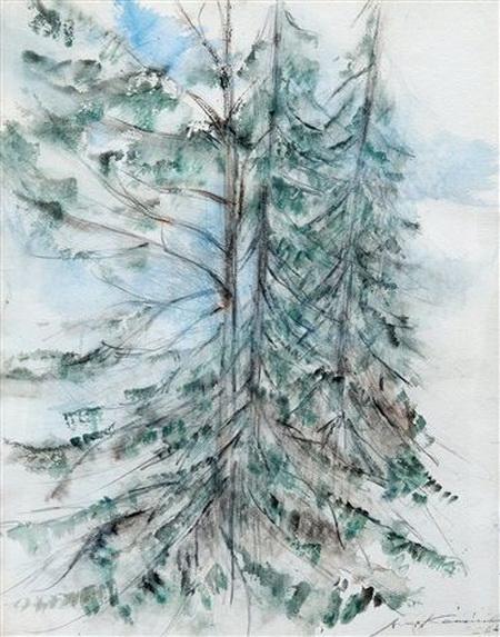 Aimo Kanerva - Fir trees