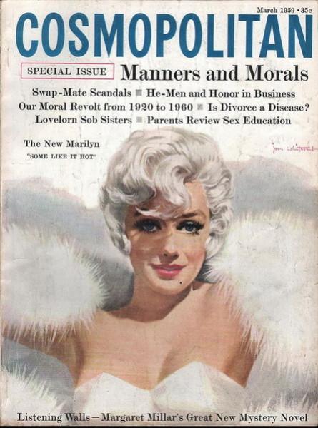 Jon Whitcomb - Cosmopolitan magazine, MARCH 1959 Model Marilyn Monroe