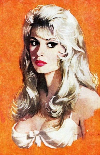 Jon Whitcomb - Brigitte Bardot illustration